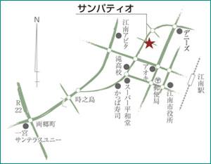 サンパティオ店の地図