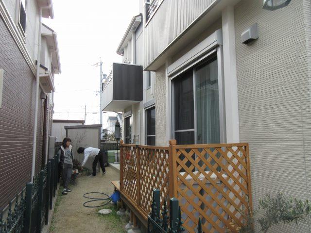 北名古屋市 お庭の目隠し工事