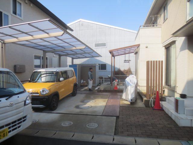 扶桑町 庭 リフォーム テラス 車庫