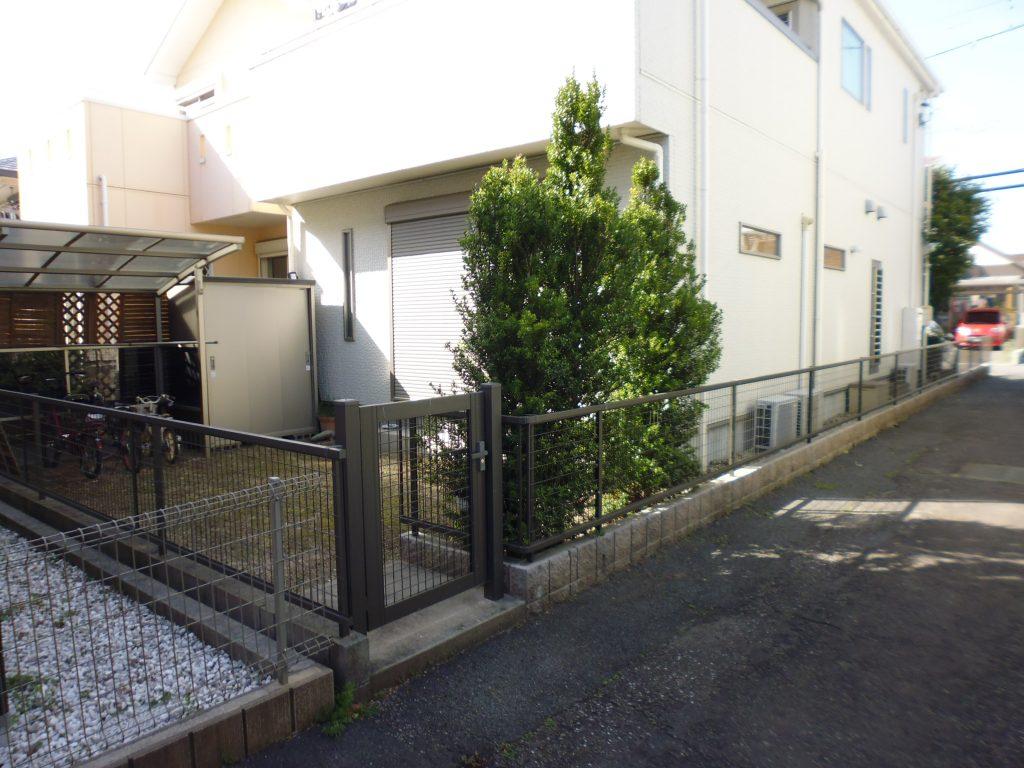 名古屋市 お庭のタイル工事