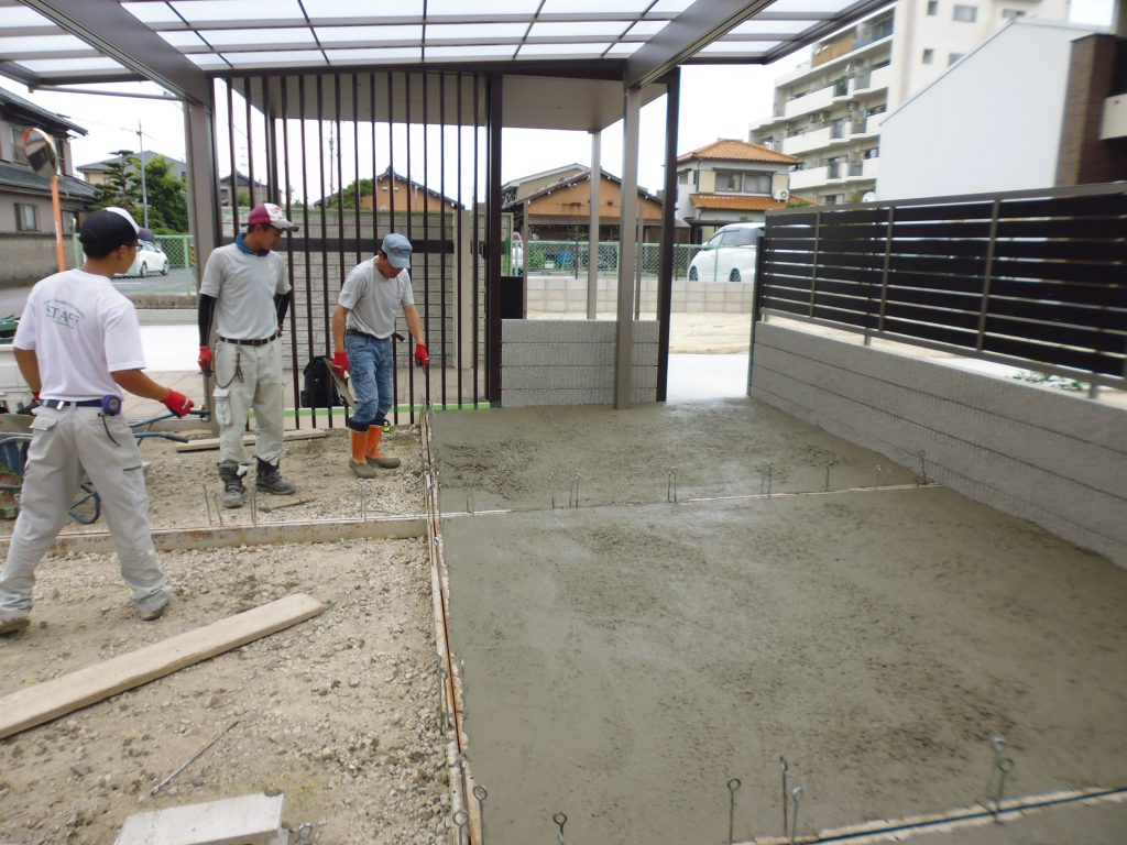台風前の現場確認です! 小牧市 外構工事