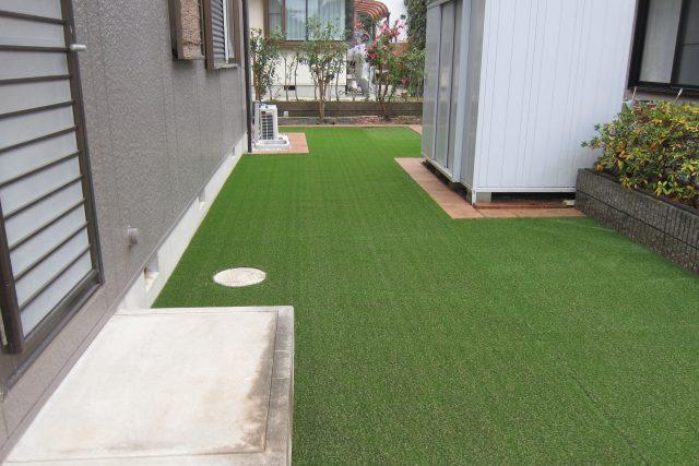 人工芝で雑草対策のお庭リフォーム 春日井市O様邸