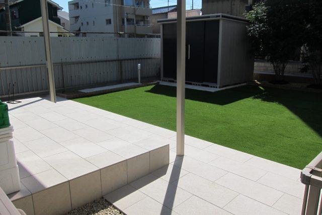 お庭の全面リフォームと宅配ポスト 名古屋市北区H様邸
