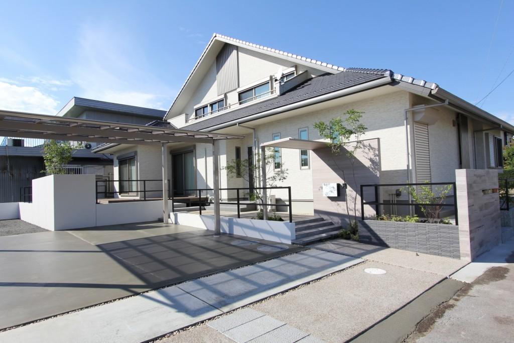 新築住宅のシンプルデザイン外構事例 かっこいい外構事例