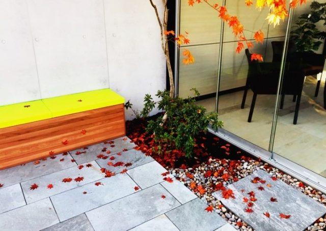 展示場も秋仕様です。