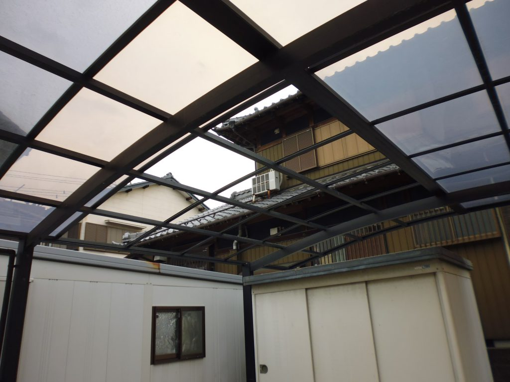 台風21号被害の修繕対応