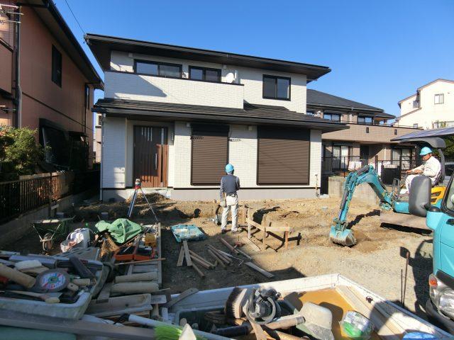 春日井市 トヨタホーム 外構工事着工しました