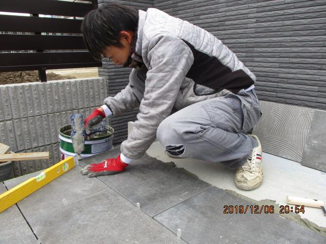 江南市 トヨタホーム新築 親和建設新築 外構現場