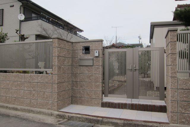 門・塀・庭のリフォーム工事 犬山市