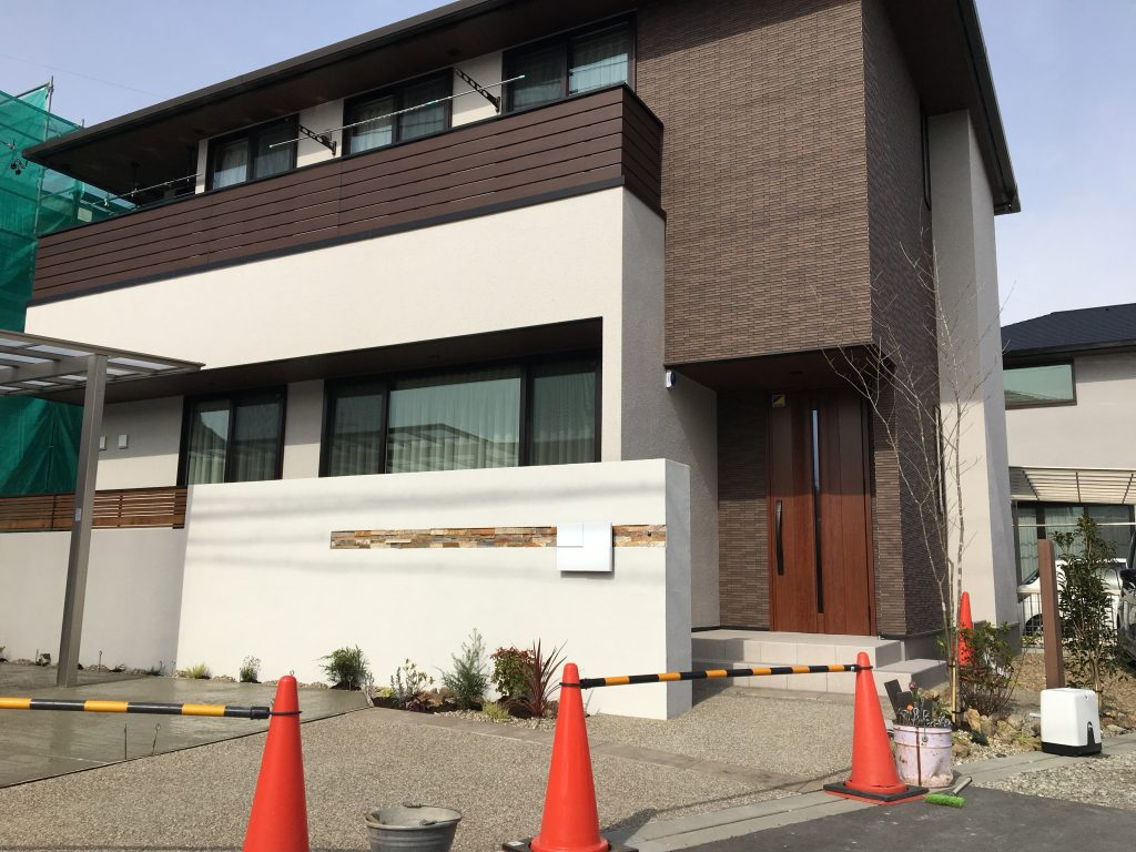 清須市 住友林業新築外構 まもなく完成です!!