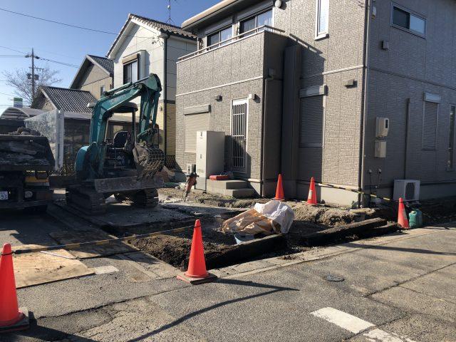 江南市 駐車場 門 リフォーム工事 解体工事