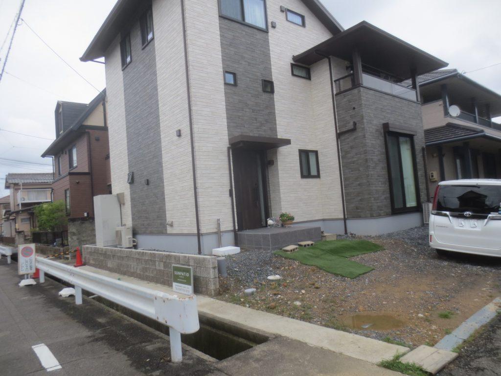岩倉市 ミサワホーム新築外構 外構 庭 庭工事 塀 フェンス 庭木