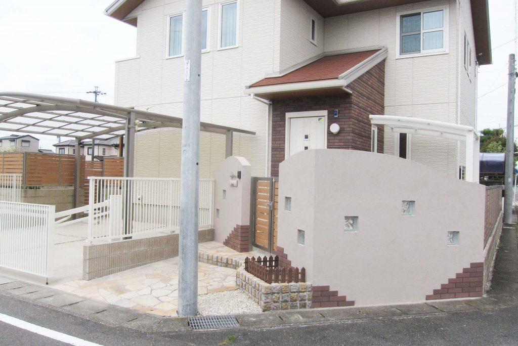 門・車庫・お庭のリフォーム工事 岩倉市