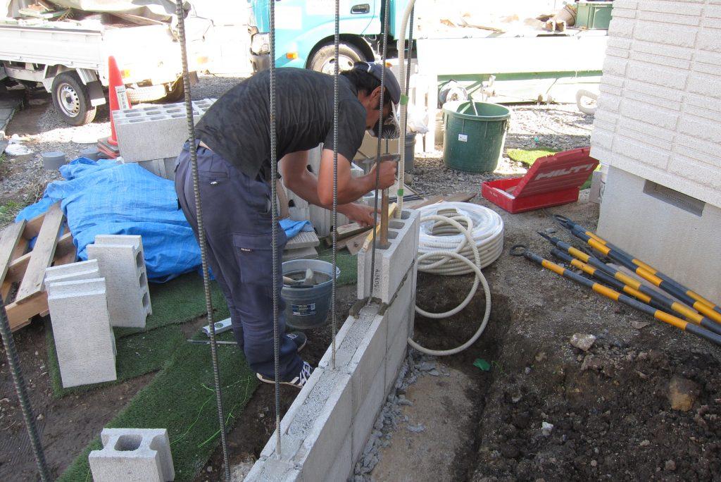 今日も新築外構工事施工中 扶桑町・大口町