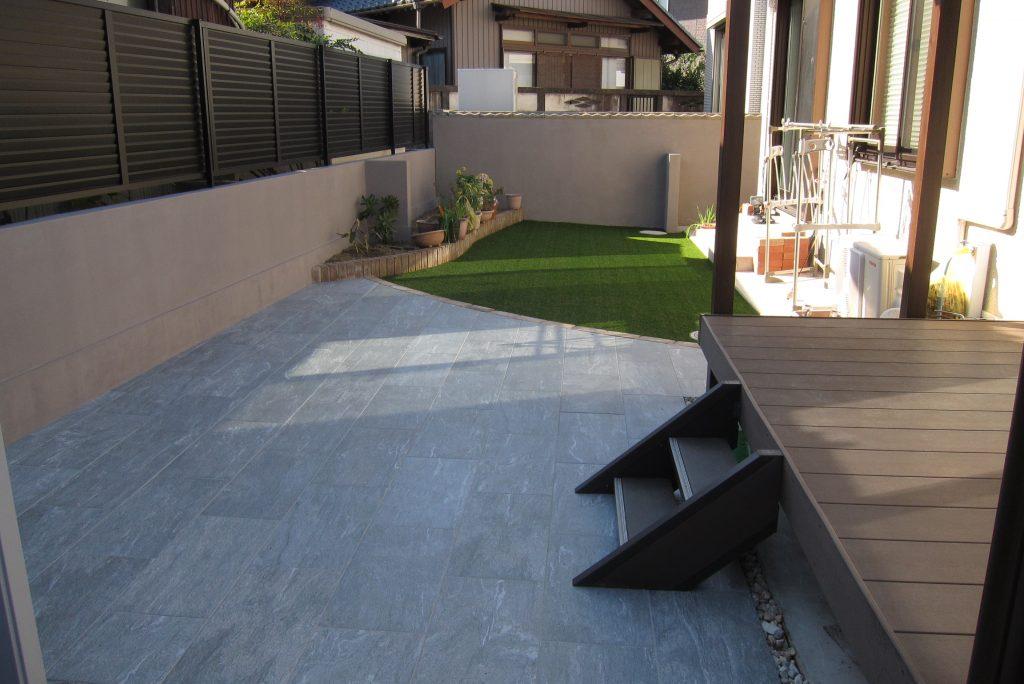 お庭をきれいに、雑草対策、管理不要の庭へ改装
